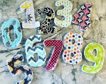 Rag Number's, Rag 0-9, Fabric Number's, Toddler Toys, Baby Shower Gifts,