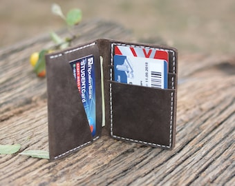 Minimalist wallet – vertical thin wallet, leather mini wallet, mens leather wallet, small wallet, card mens wallet