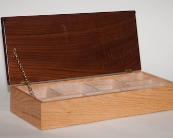 Oak Box With Walnut Lid