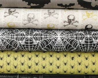 Lost and Found Halloween Fabric by Jen Allyson for Riley Blake 5 Fat Quarter Bundle