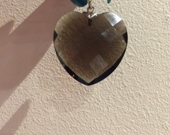 Snokey Quartz heart pendant