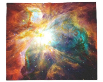 Nebula Blanket, Throw Blankets, Colored Space, Galaxy, Stars, Geek, Constellation, Photography, Outer Space, Children, Kids, Landscape Print