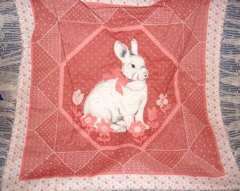 Peach Bunny Pillow Top