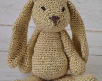 Crochet bunny, crochet baby toy, stuffed rabbit, crochet toy, crochet rabbit, baby toy