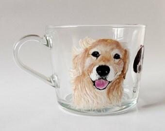Custom Pet Portrait, Labrador mug, Custom Dog Mug, Cat Mug, Hand Painted Tea Mug, Gift For Dog Lover, Gift For Cat Lover