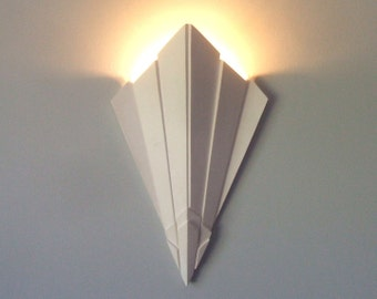 ART DECO cinema STYLE  Plaster led wall Uplighter (torch design)