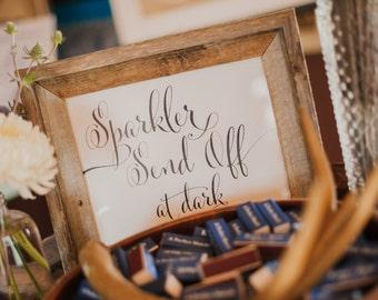 """INSTANT DOWNLOAD - Sparkler Send Off Printable Sign 8x10"""" DIY Wedding Poster... Black"""
