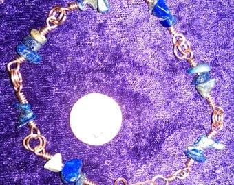 Lapis Lazuli and Copper Link Bracelet
