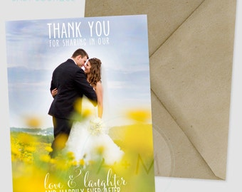 Customized Thank You Template, Photo Thank You, Wedding, Printable, Wedding Thank You, Thank You, Robinson