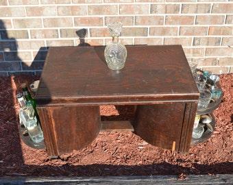 Hidden bar coffee table