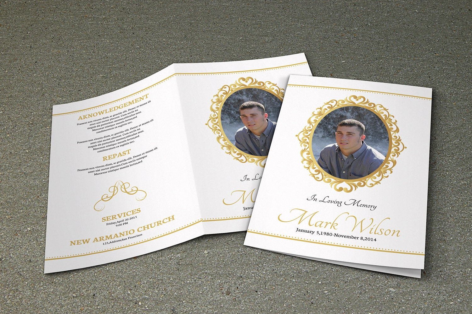 memorial brochure template - printable funeral program template memorial program
