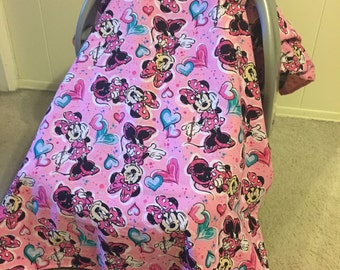 Minnie Mouse Car Seat Canopy - Personalization Avaiable