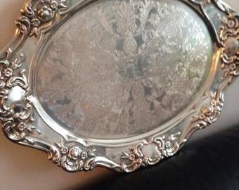 Birks Vintage silver tray signatory