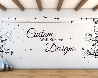 Custom Wall Sticker Quote | Personalised Wall Decal | Personal Design | Motivation or Inspiration Word and Saying Decal | Home wall decor