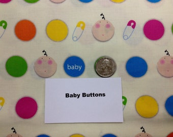 Babies and Buttons Fabric - 2 Yards