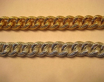 Gold OR Silver Plated Seeded Textured Chain 15 x 18mm