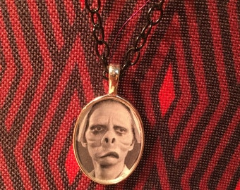 Twilight Zone Eye of the Beholder Nurse Resin Pendant Necklace Rod Serling