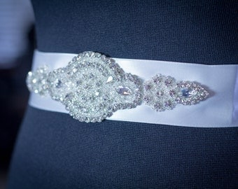SALE - Wedding Belt, Bridal Belt, Sash Belt, Crystal Rhinestone Belt, Wedding Dress Sash, Bridesmaid Dress Sash