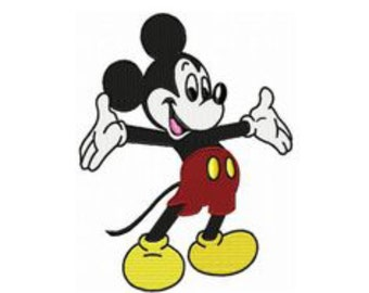 Mickey Mouse - filled embroidery design