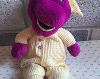 Barney beanbag toy, barney's Dinosaur, Barney doll, Barney beanbag doll, Pajamas Barney