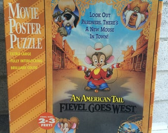 An American Tail: Fievel Goes West movie poster Jigsaw Puzzle
