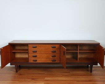 Items similar to mid century modern nathan teak 7ft for Mobili danesi