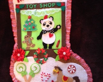 Toy Shop Christmas Stocking