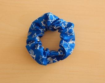 Hanukkah Hair Scrunchie