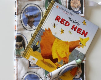The Little Red Hen, Golden Book, REPURPOSED, Children's Book Chalkboard