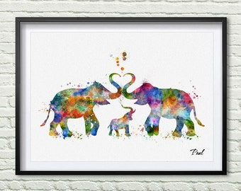 Elephant family painting - photo#18