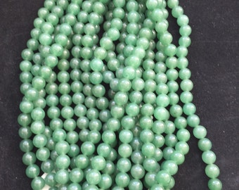 Green agate beads/8mm