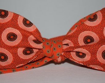 Reversible Orange Dotted Vinyl