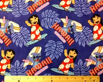 Lilo and Stitch Surf Club Fabric