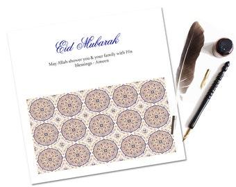 Moroccan Eid Mubarak Cards, Eid Cards, Eid Greeting Cards, Islamic Cards, Muslim Cards