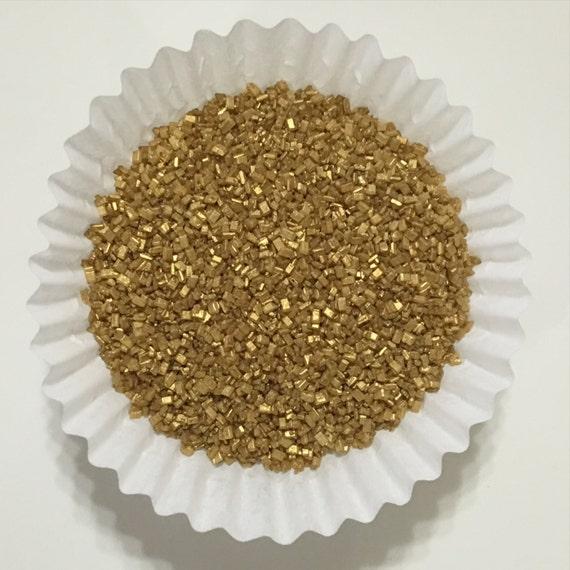 Cake Decorating Gold Sprinkles : 4oz. Gold Sparkling Sugar. Sparkling Sugar. Sprinkles.Cupcake