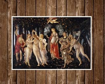 La Primavera by Sandro Botticelli Canvas poster print. Music Poster A3 or A4