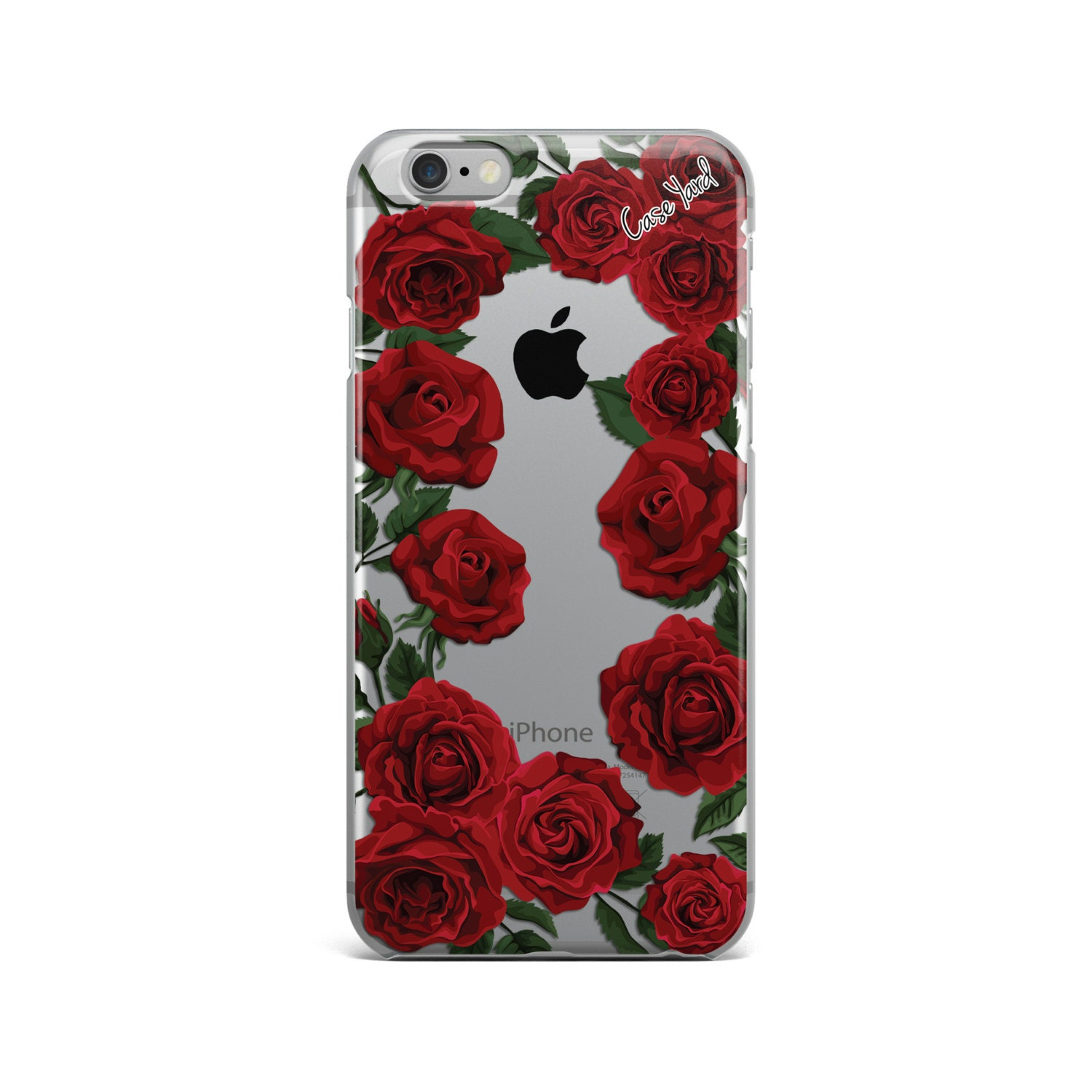 red roses clear iphone 7 case clear iphone 6s case clear. Black Bedroom Furniture Sets. Home Design Ideas