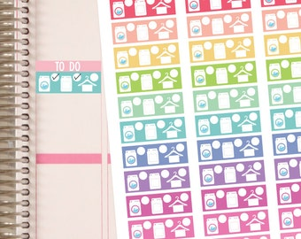 Planner Stickers - Laundry Stickers -  Erin Condren Planner Stickers and Happy Planner Stickers