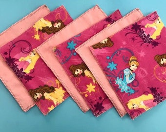 Disney Princess Flannel Wipes - Set of 6