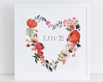 Heart Full of Love - Art Print