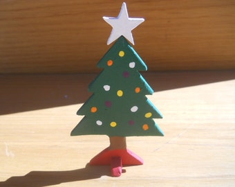 Three Christmas Tree Display Centerpiece Stand Ornaments