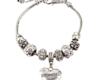 Bridesmaid Gift Jewelry- Bridesmaid Bracelet- Perfect Gift for Bridesmaids, Maid of Honor Bridal Party