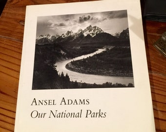 Ansel Adams ' Our National Parks ' first edition photography book 1992 Excellent Condition !