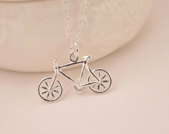 sterling silver bicycle charm necklace sterling silver bike necklace delicate necklace bridesmaid gift wedding gift