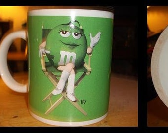 Green M&M Coffee Cup