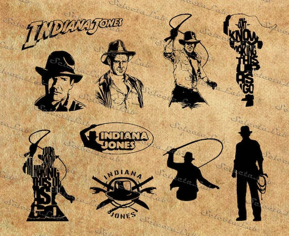 Digital image indiana jones inspired silhouette by aramislab for Indiana jones clipart