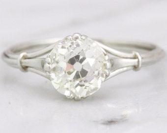 SOLD Lola- Edwardian Old European Cut Diamond Engagement Ring