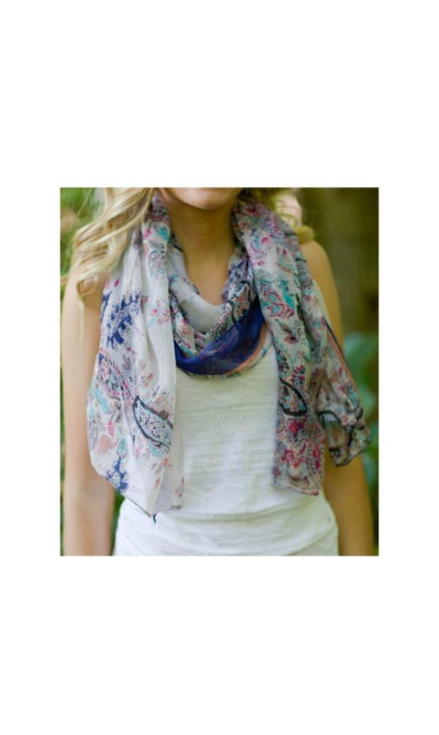boho scarf bohemian scarf paisley scarf