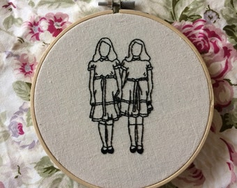 Twins from 'The Shining' Embroidery Hoop