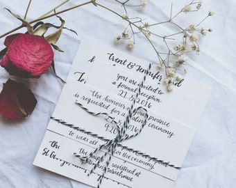Classy Simple Black and White Calligraphy Wedding Suite